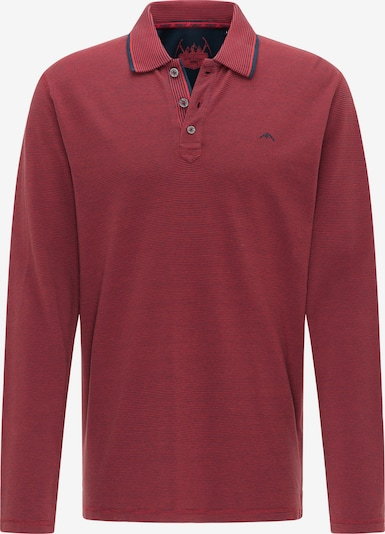 PIONEER Shirt in dunkelblau / kirschrot, Produktansicht