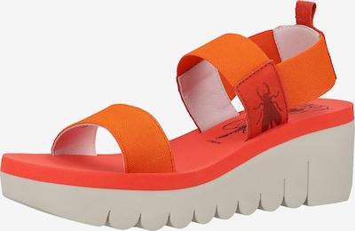 FLY LONDON Sandalen in orange / rot, Produktansicht