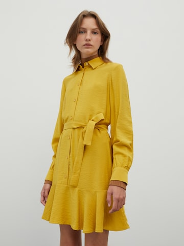 EDITED Shirt Dress 'Hanka' in Yellow