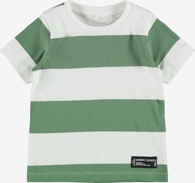 Tricou NAME IT pe verde / alb natural, Vizualizare produs