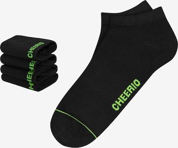 CHEERIO* - Calcetines 'SNEAKER PAL 4P' en negro