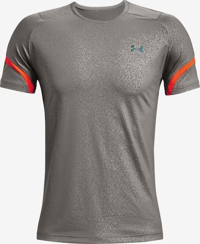 UNDER ARMOUR Tehnička sportska majica ' RUSH ' u siva / narančasta, Pregled proizvoda