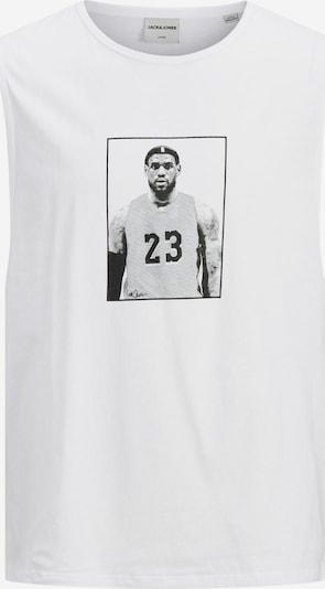 JACK & JONES T-Shirt en noir / blanc, Vue avec produit