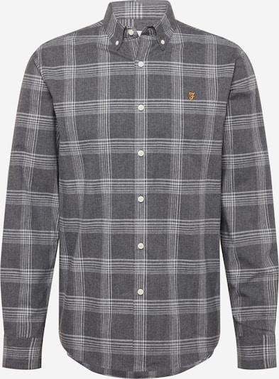 FARAH Hemd in safran / grau / dunkelgrau, Produktansicht