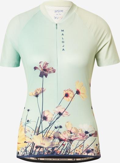 Tricou funcțional 'Lorbeere' Maloja pe mentă / culori mixte, Vizualizare produs