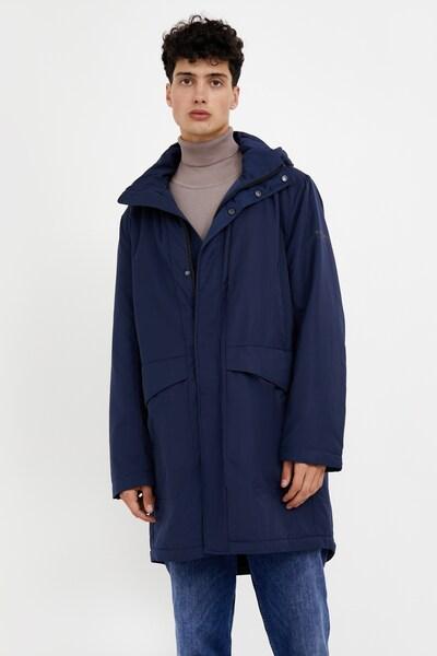 Finn Flare Mantel in blau, Modelansicht