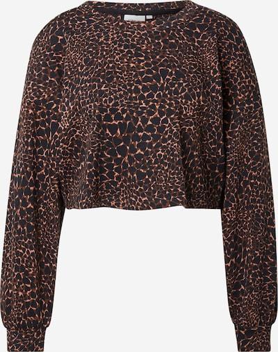 ONLY Sweatshirt 'FUNKY' in braun / hellbraun / schwarz, Produktansicht