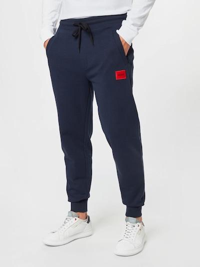 Pantaloni 'Doak' HUGO pe albastru închis, Vizualizare model