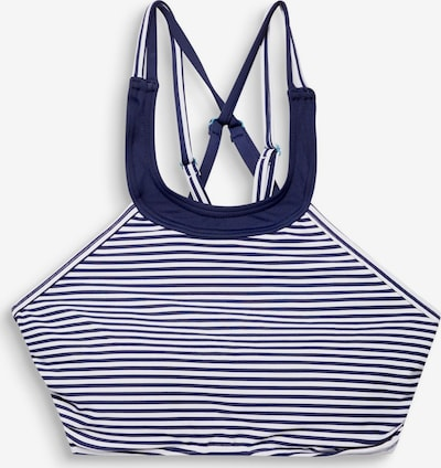 ESPRIT Bikinitop in dunkelblau / weiß, Produktansicht