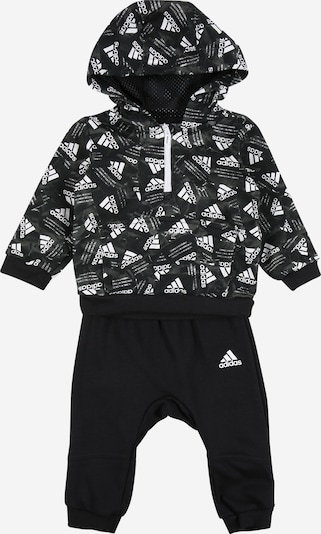 ADIDAS PERFORMANCE Trainingsanzug in grau / schwarz / weiß, Produktansicht