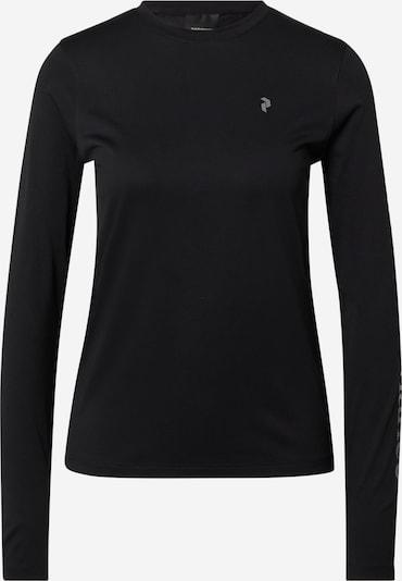 PEAK PERFORMANCE Functioneel shirt 'Alum' in de kleur Grijs / Zwart, Productweergave