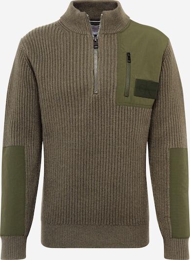 Calvin Klein Jeans Pullover in khaki / dunkelgrün, Produktansicht