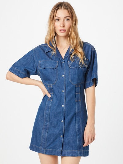 DIESEL Shirt Dress 'AMABEL' in Blue, View model