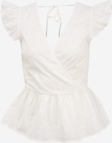 Pieces Tall Pusero 'ALYAH' värissä valkoinen