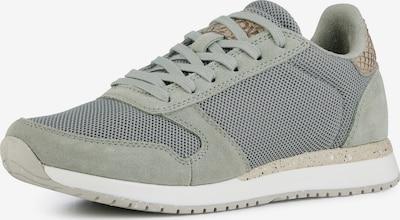 WODEN Låg sneaker 'Ydun Fifty' i brokad / silvergrå / ljusgrön, Produktvy