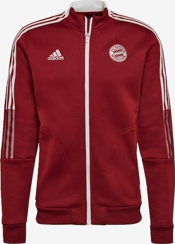 ADIDAS PERFORMANCE Sportjacke 'FC Bayern München Tiro Anthem' in Rot
