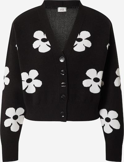 Pimkie Gebreid vest 'JORGE' in de kleur Zwart / Wit, Productweergave