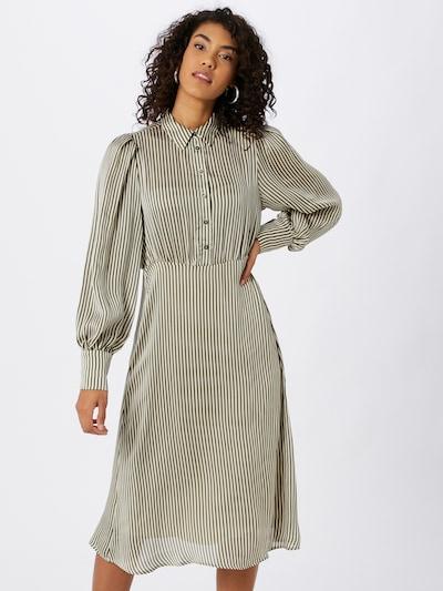 VILA Košeľové šaty - zelená / biela, Model/-ka