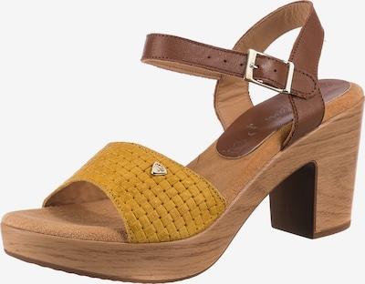 JANE KLAIN Sandale in braun / dunkelgelb, Produktansicht