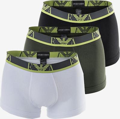 Emporio Armani Boxershorts in de kleur Neongeel / Donkergrijs / Zwart / Wit, Productweergave