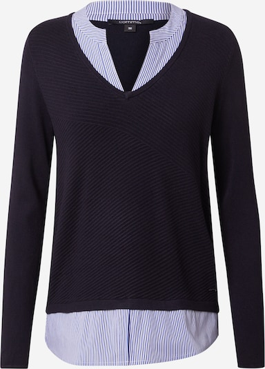 COMMA Sweater in navy / white, Item view