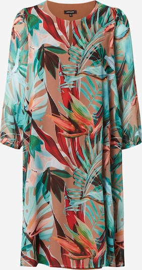 MORE & MORE Kleid in sand / dunkelgrün / rosa / karminrot, Produktansicht