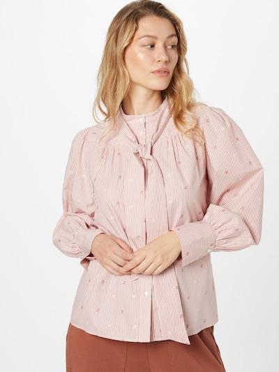 Bluză 'BASTIA' MAX&Co. pe roz pal / alb, Vizualizare model