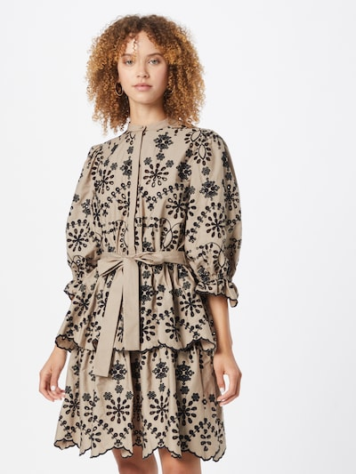 Rochie tip bluză 'Rosie Sinea' BRUUNS BAZAAR pe nisipiu / negru, Vizualizare model
