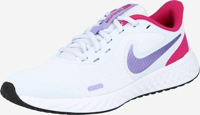 NIKE Laufschuh 'Revolution 5' in grau / dunkellila / pink / weiß, Produktansicht