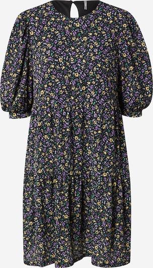ONLY Robe 'PELLA' en jaune / violet / noir, Vue avec produit