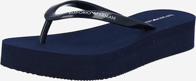Emporio Armani Séparateur d'orteils en bleu foncé / blanc, Vue avec produit