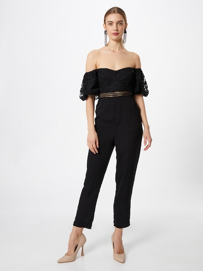 Tuta jumpsuit 'PEONY' Love Triangle di colore nero, Visualizzazione modelli