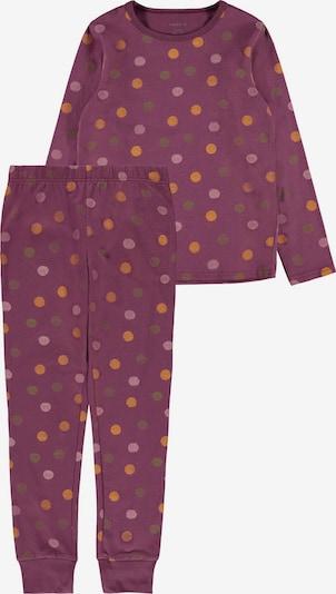 Pijamale NAME IT pe galben lămâie / mov zmeură / portocaliu deschis / roz, Vizualizare produs
