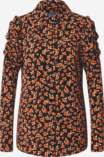 Crās Blouse in de kleur Sinaasappel / Zwart, Productweergave