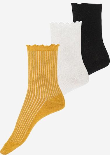 VERO MODA Socks 'VMMAGIC GLITTER SOCKS' in yellow gold / Black / White, Item view