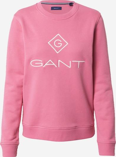 GANT Sweat-shirt 'LOCK UP' en rose / blanc, Vue avec produit