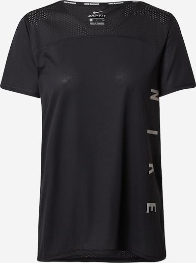 NIKE Koszulka funkcyjna 'Miler' w kolorze srebrno-szary / czarnym, Podgląd produktu