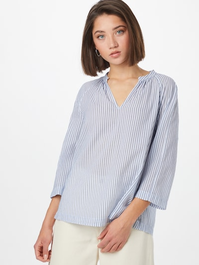 Marc O'Polo Blouse in de kleur Lichtblauw / Wit, Modelweergave