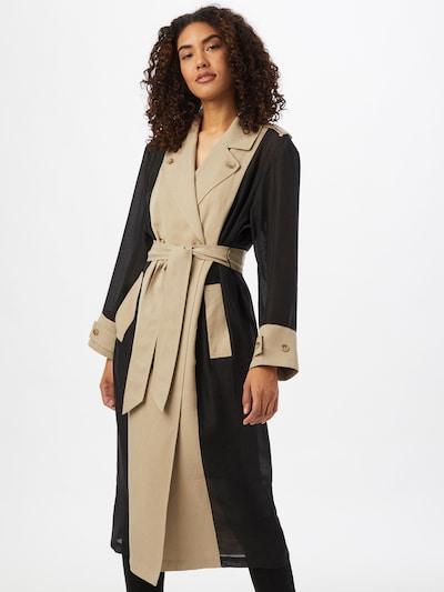 JUST FEMALE Manteau mi-saison 'Dover' en beige / noir: Vue de face