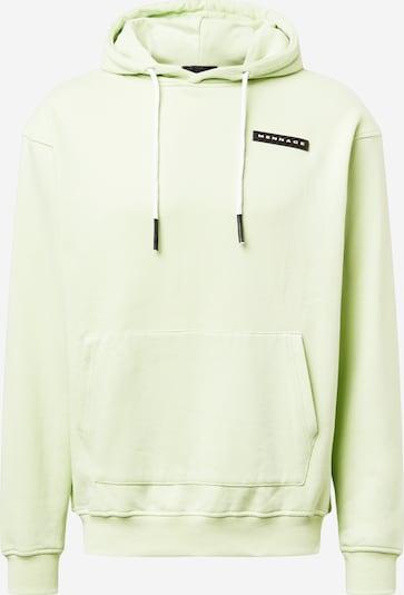 Bluză de molton 'AFTERMATH' Mennace pe verde pastel / negru / alb, Vizualizare produs