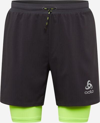 ODLO Pantalon de sport en vert fluo / noir, Vue avec produit