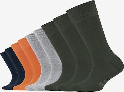s.Oliver Socken in blau / grau / dunkelgrün / orange, Produktansicht