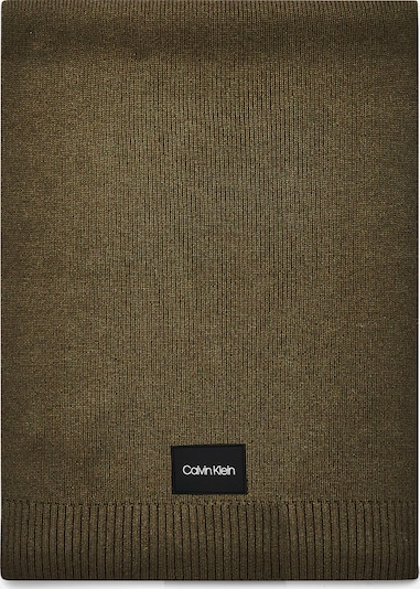 Calvin Klein Schal in oliv / schwarz / weiß, Produktansicht