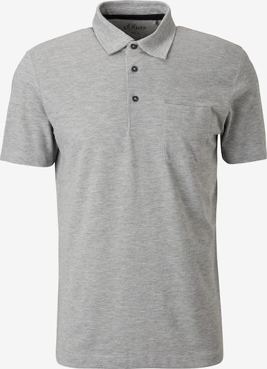 s.Oliver Shirt in de kleur Grijs gemêleerd: Vooraanzicht