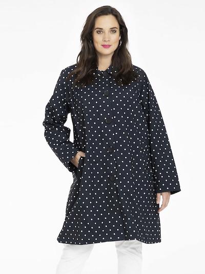 Yoek Regenmantel 'Judy' in schwarz / weiß, Modelansicht