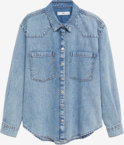 MANGO Bluse in blue denim, Produktansicht