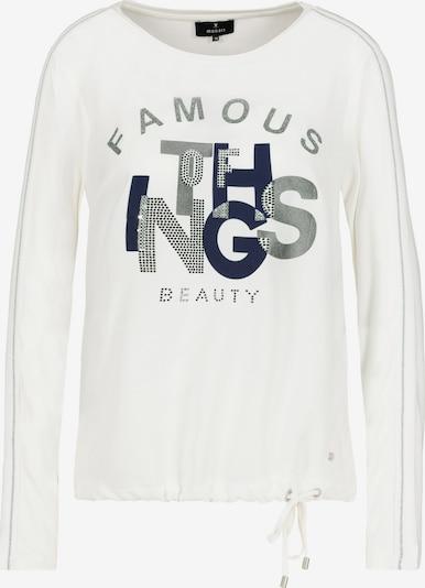 monari Shirt in de kleur Donkerblauw / Grijs / Wit, Productweergave