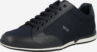 BOSS Casual Обувки с връзки 'Saturn' в морскосиньо / бяло, Преглед на продукта