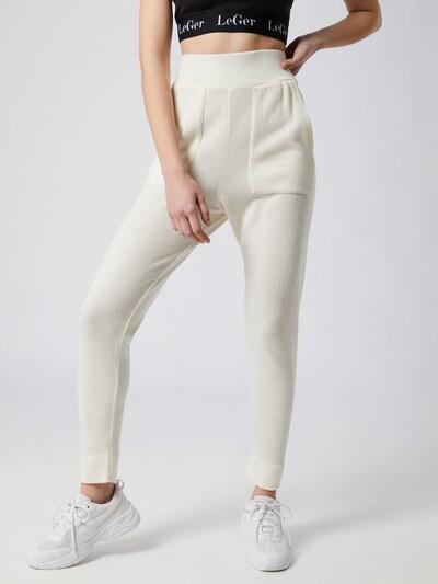 LeGer by Lena Gercke Pantalon 'Lou' en blanc cassé, Vue avec modèle