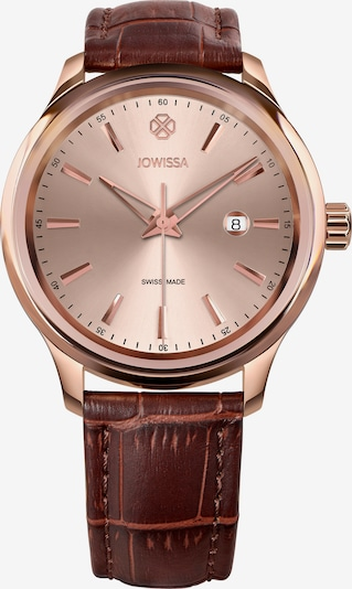 JOWISSA Quarzuhr Tiro Swiss Men's Watch in braun / rosegold / rosé, Produktansicht